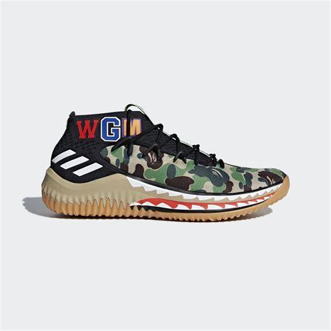 adidas bape adidas dame 4 bape shoes grey adidas us