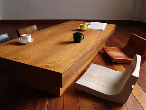 floor dining table zen inspired interior design