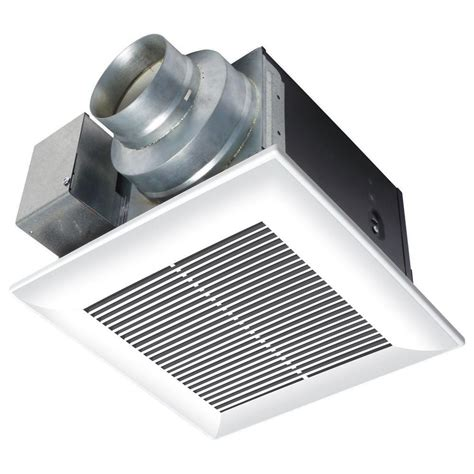 bathroom exhaust fan cfm panasonic whisperceiling 110 cfm ceiling exhaust bath fan