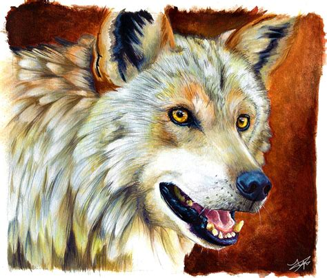 wolf painting wolf painting by autlaw on deviantart
