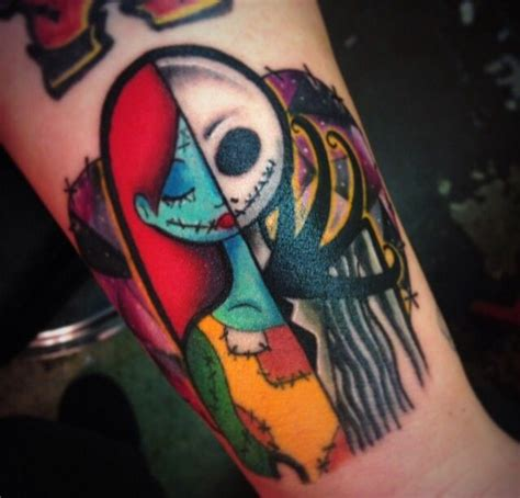 jack and sally couple tattoos and sally and sally