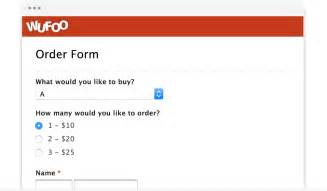 create a form template exles of forms wufoo
