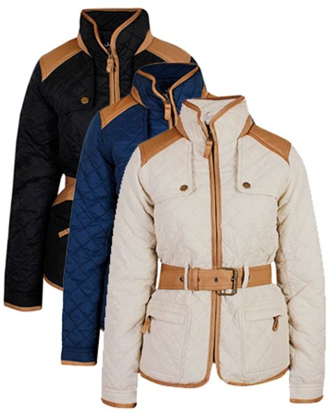 Designer Quilted Coats by Womens Quilted Jacket Designer Padded Quilt Belted