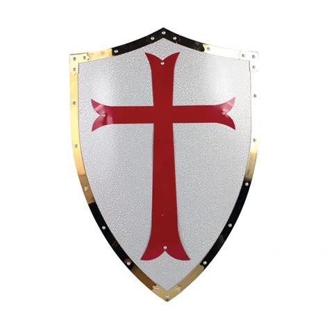 25 quot x 17 5 quot red cross crusader metal shield in los angeles