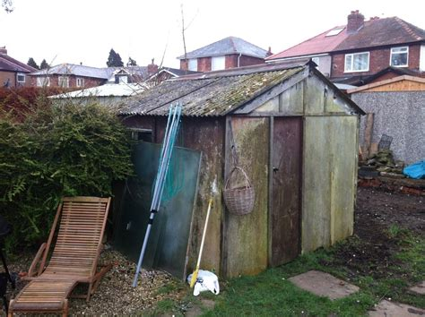 removal  asbestos shed  clearance  site demolition clearing job  preston