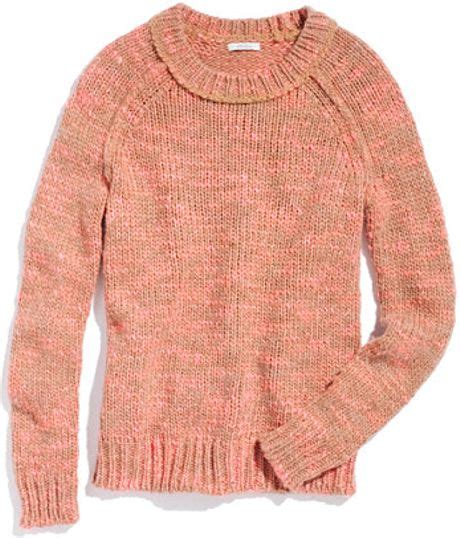Secondsign Sweater Pink madewell flurry sweater in pink marled electric pink lyst