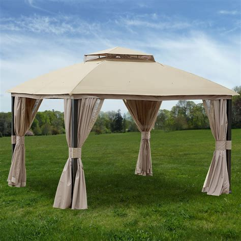 replacement privacy curtains gazebo replacement canopy for privacy gazebo riplock 350 garden