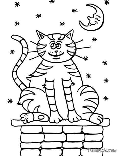 tabby cat coloring pages hellokids com