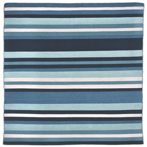 Bright Outdoor Rugs Tasso Bright Stripe Water 8 Ft X 8 Ft Square Indoor Outdoor Area Rug Tsos8b41703 The Home Depot
