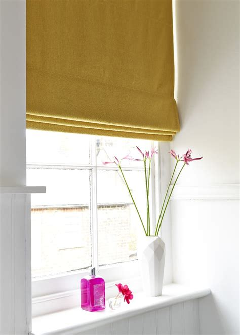 bathroom roman blinds made to measure simple and stylish the tetbury mustard made to measure