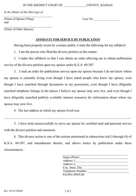 b119 form kansas affidavit form for free formtemplate