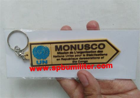 Gantungan Kunci Rubber Polisi gantungan spion tengah un pasukan perdamaian monusco