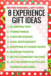 experience gifts 8 unique gift card and christmas gift