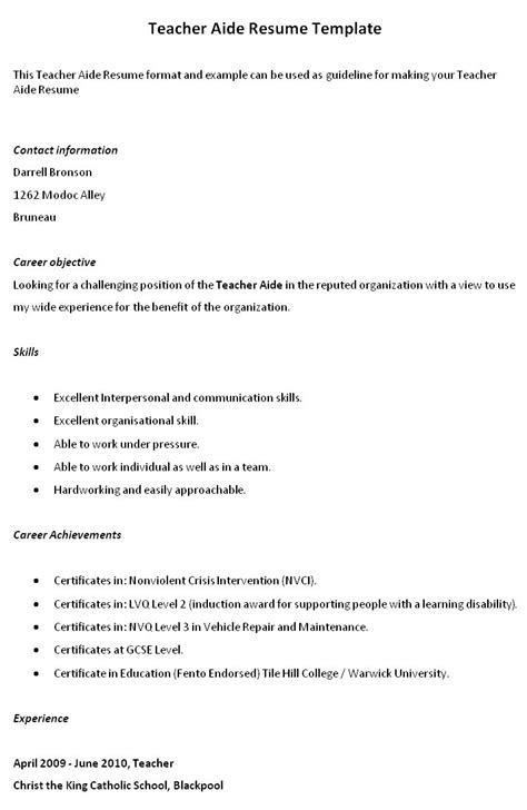 Resume Sles For Special Education Teachers Assistants resume objective hitecauto us