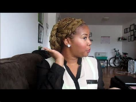 elegant updo for sengalease twists easy updo with senegalese twist youtube