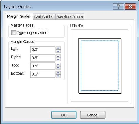 word layout guides understanding the layout guides dialog box in publisher