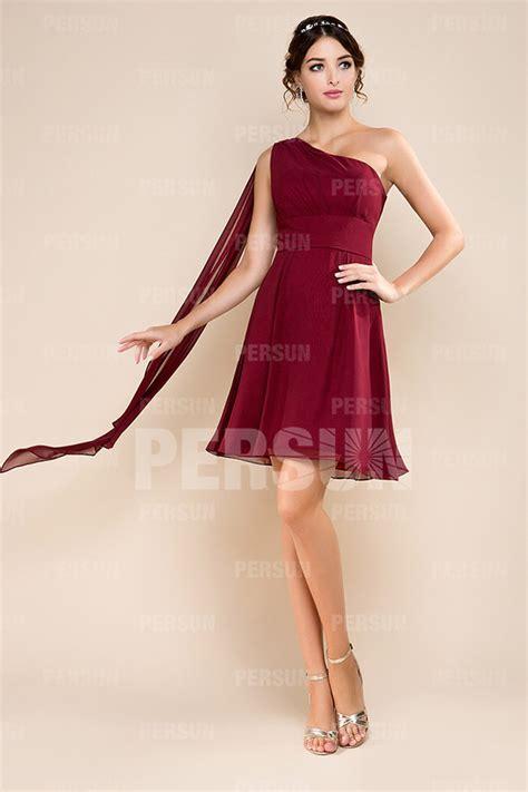 Robe Longue Bordeaux Demoiselle D Honneur - robe demoiselle d honneur courte style empire et