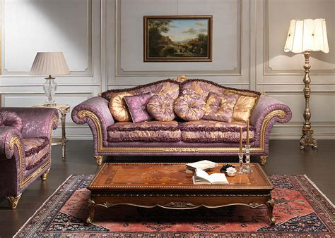 luxurious living room furniture luxury classic sofa and armchairs imperial by vimercati