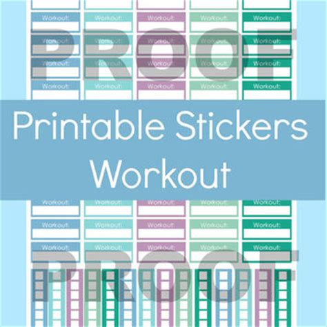free printable workout planner stickers erin condren fitness stickers workout from commandcenter