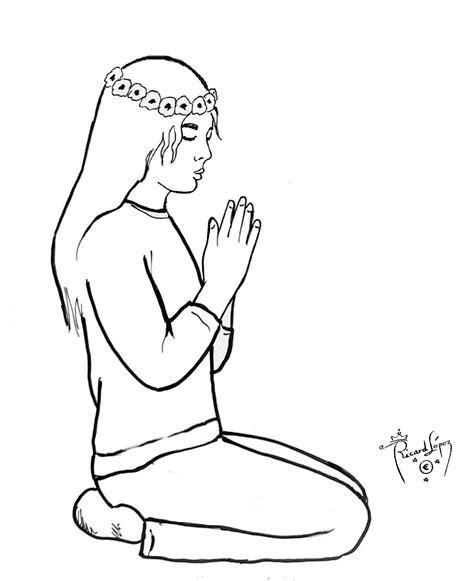 Imagenes De Mujeres Orando Para Colorear | mujer orando dibujos imagui