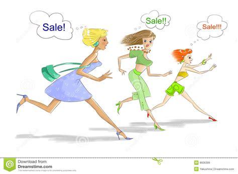 runs for sale three running on sale stock illustration
