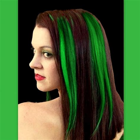 green hair extension green hair extensions hair shines