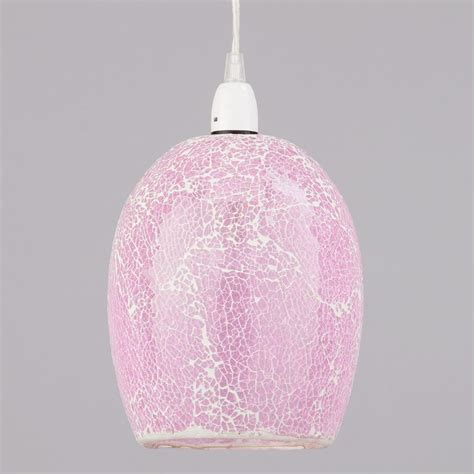 shades of light pink tate crackle glass easy to fit ceiling light shade pink
