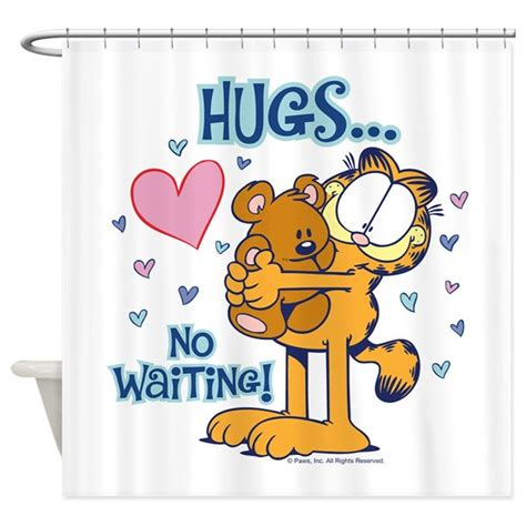 garfield shower curtain hugs no waiting shower curtain by garfield