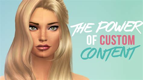 custom contant hair in the sims 4 the power of custom content the sims 4 youtube