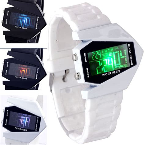 Jam Tangan Pria Led Airplane jual jam tangan led pesawat airplane led barang