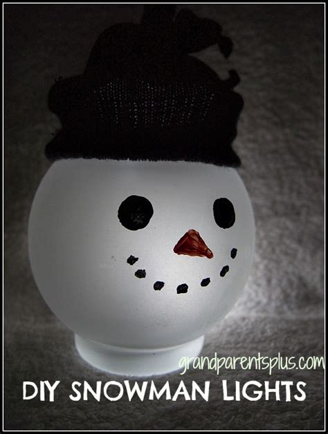 snowman light diy snowman lights grandparentsplus