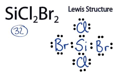 how to draw an electron dot diagram sicl2br2 lewis structure how to draw the lewis structure