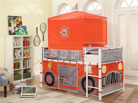 fire truck loft bed combustion bright white fire truck loft bed from