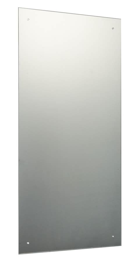 drilled bathroom mirrors 90 x 45cm rectangle bathroom mirror with drilled holes chrome cap wall hanging
