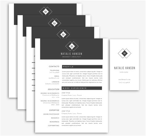 Resume Business Card Template by Word Resume Business Card Templates Resume Templates On