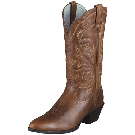 womans western boots s ariat 174 12 quot heritage western r toe cowboy boots