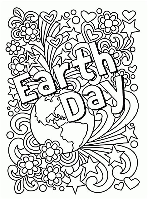 celebration earth day coloring page  kids coloring
