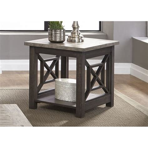 Becker Furniture Woodbury by Vendor 5349 Heatherbrook Occasional End Table With Bottom