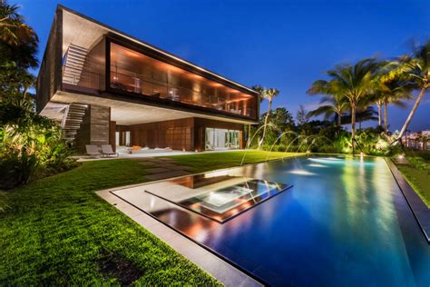 a luxury miami home with pools lagoons and