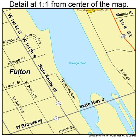 futon ny fulton new york street map 3627815
