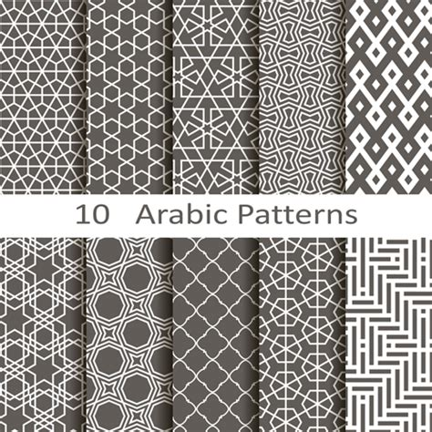 islamic style seamless pattern vector free download vector arabic style seamless patterns 01 vector pattern