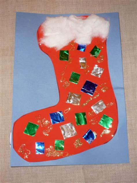 christmas stocking art craft for babies