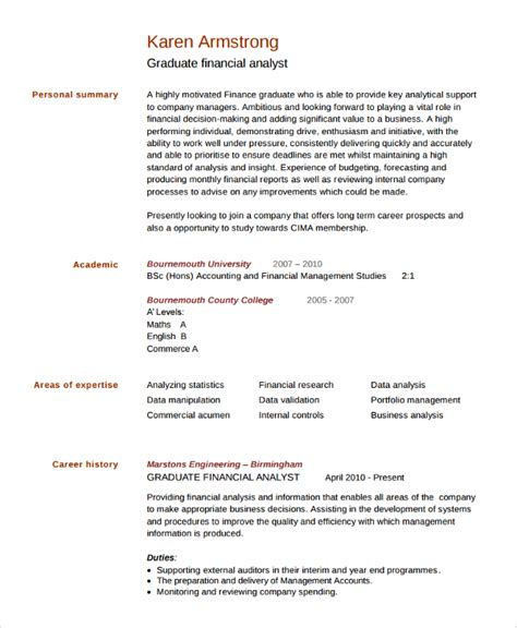 Resume Template For College Graduate by Sle College Graduate Resume 8 Free Documents In Word Pdf