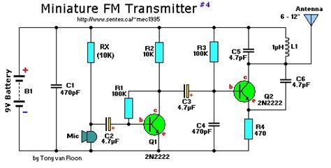 Q2 Mini Cutter Set 2 transistor mini fm transmitter circuit schematic