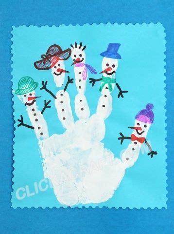 Snowy Crafts Kiddie Crafts 365 - image result for handprint snowmen craft