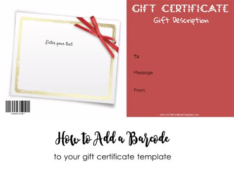 Generic Gift Card Template by Generic Gift Certificates Carbon Materialwitness Co