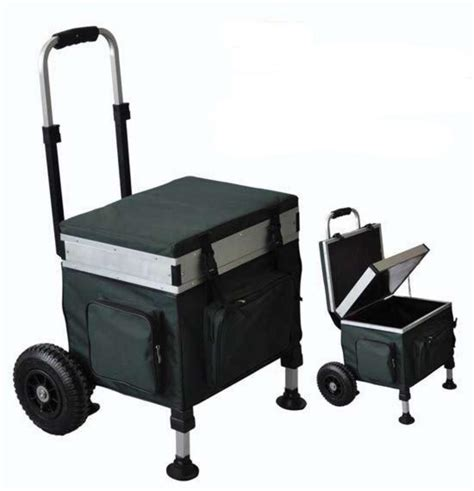 Platform Tent bison trolley seat box barrows amp trolleys fishing mad
