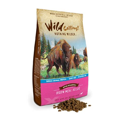 calling food calling bison meal recipe food 21 lb naturalpetwarehouse