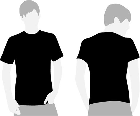 black t shirt template black t shirt template clipart best