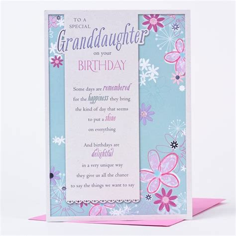 Granddaughter Birthday Card Birthday Card Special Granddaughter Only 89p